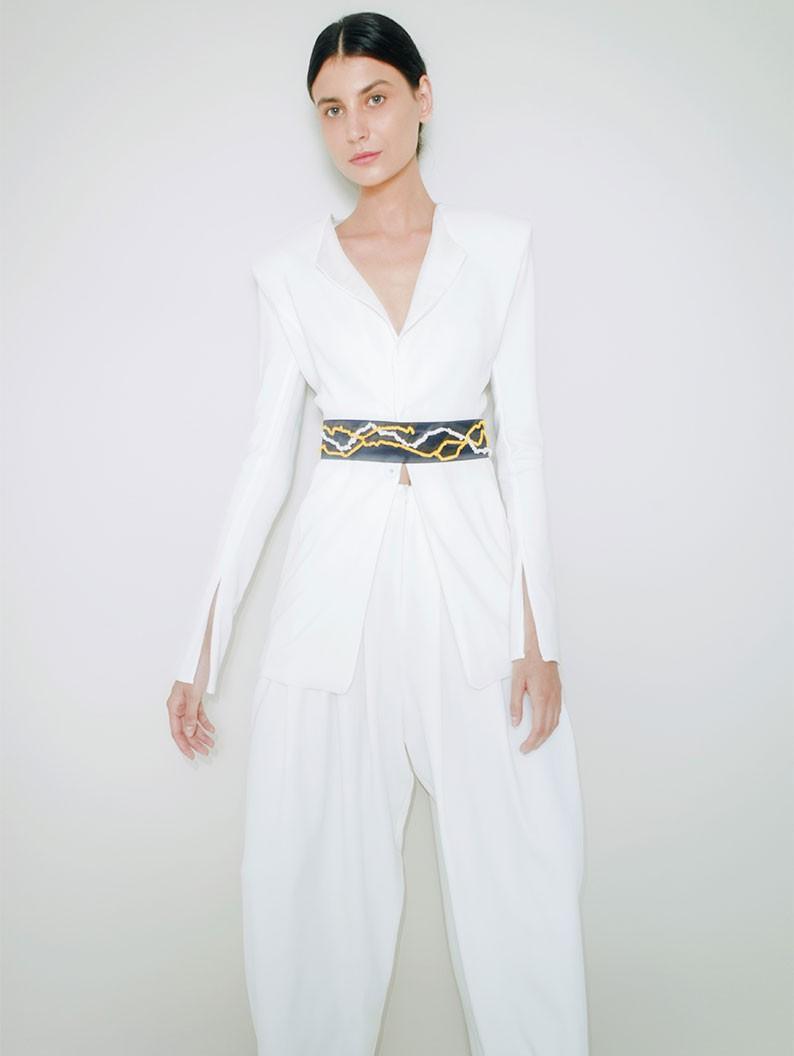 Embroidered Silk Belt