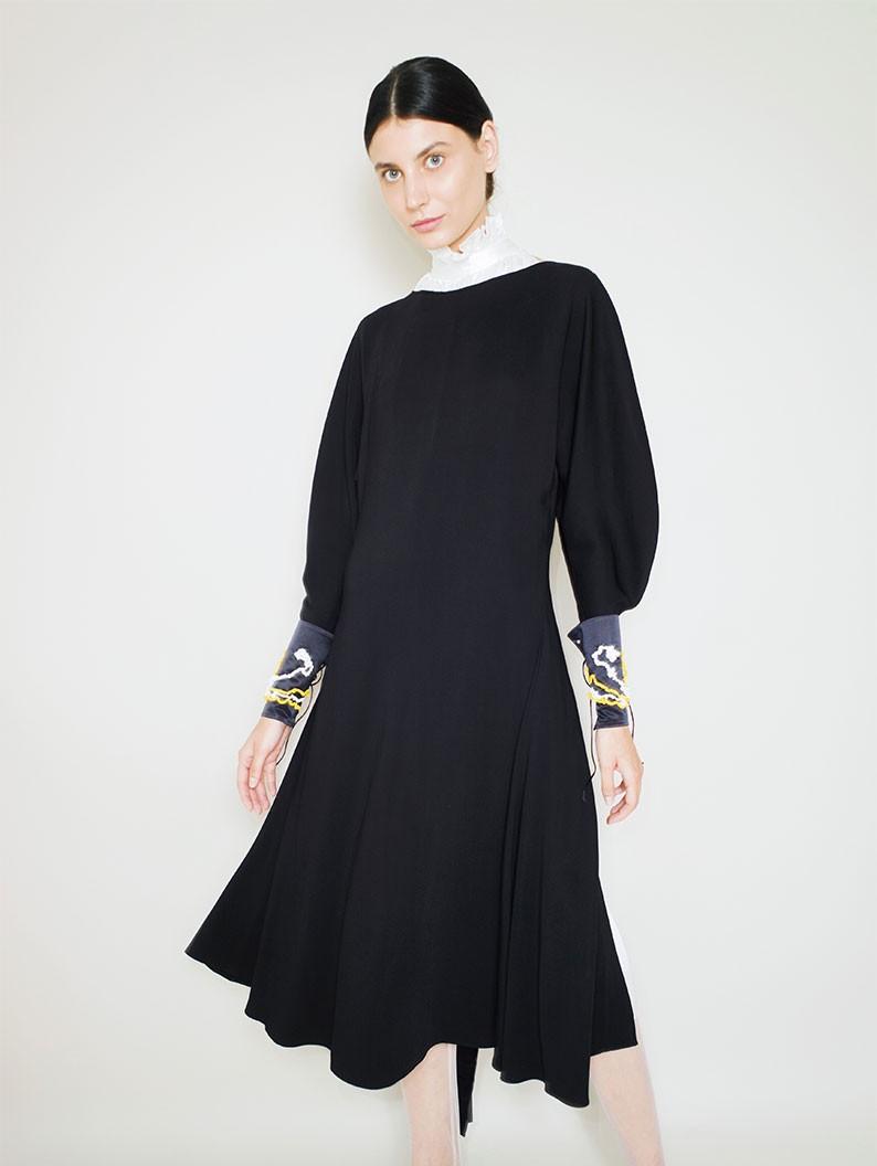 Hand embroidered black cuffs