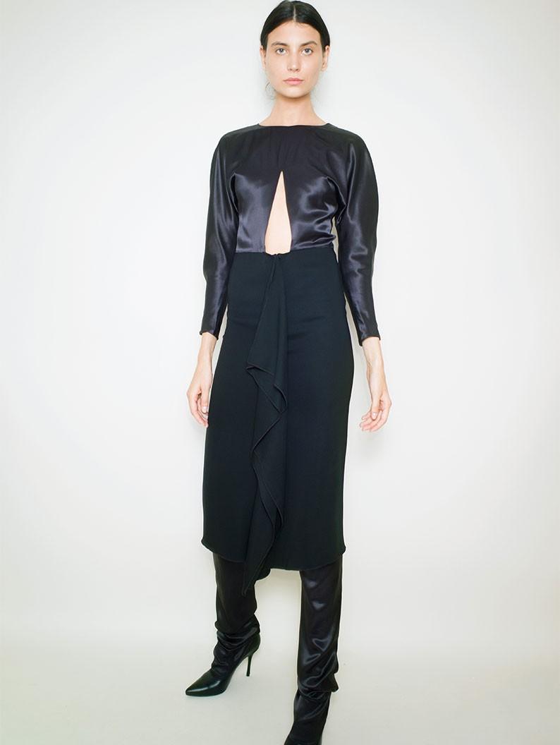 Cropped Black Dress
