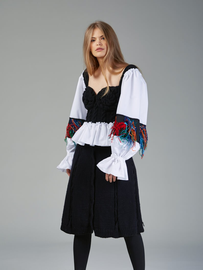 Knitted Romanian Blouse II
