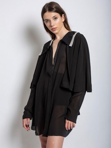 Shine Away Silk Muslin Cardigan Dress