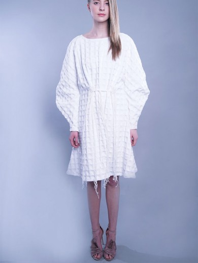 Texturised Cotton Dress