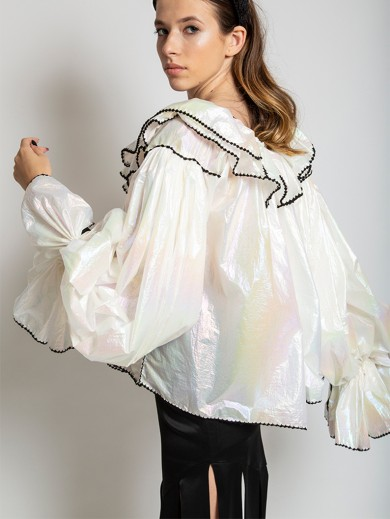 Holographic Traditional Romanian Blouse