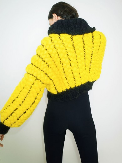 Hand Braided Yellow Bomber