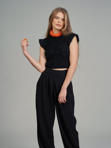 Hand-knitted top