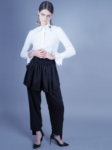 Apron tailored trousers