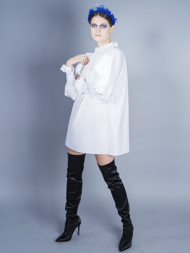 Smocking Shirt Dress