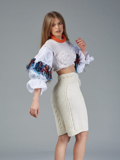 Knitted Romanian Blouse I