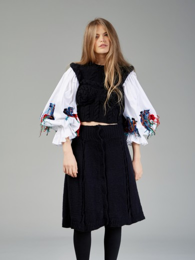 Knitted Romanian Blouse III