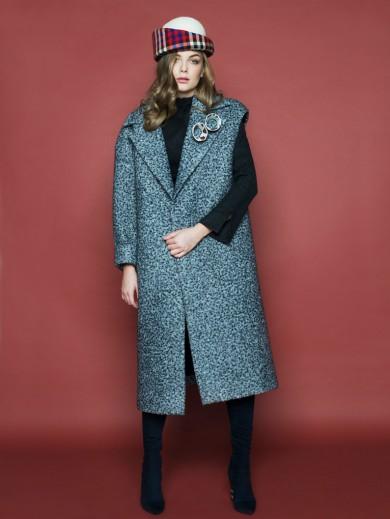 Asymmetric Wool Felt Coat