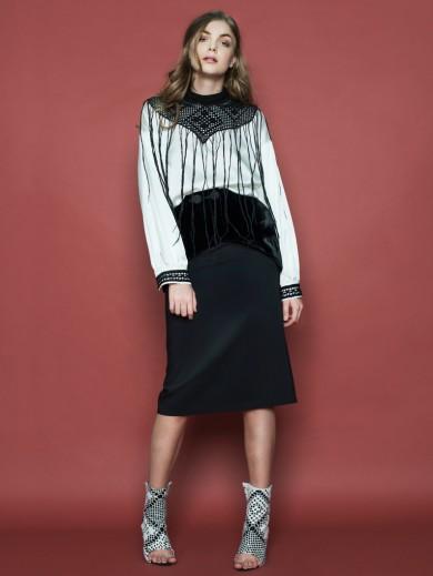 Wool & Velvet Skirt