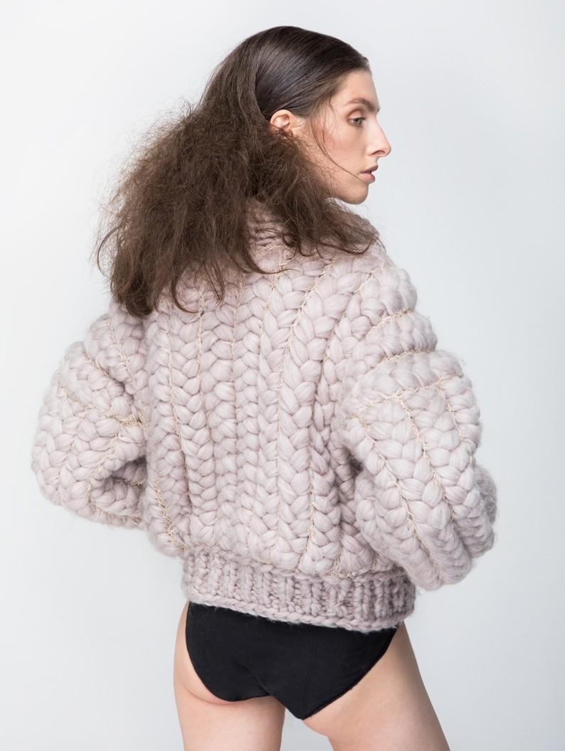 Chunky Braided Wool Jacket