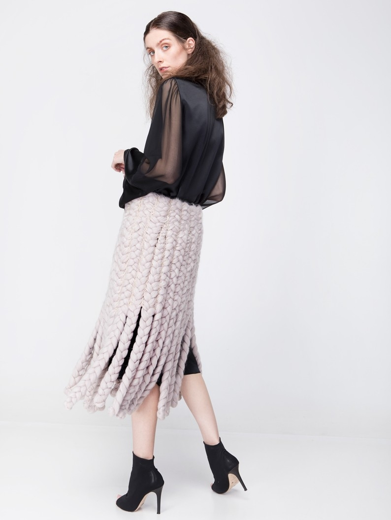 Chunky Braided Skirt